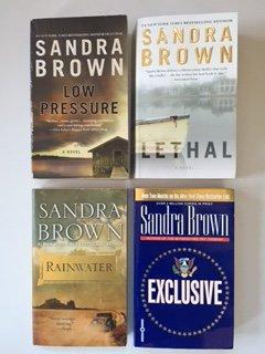 Sandra Brown  4 Book Set  Low Pressure  Lethal  Rainwater  Exculsive