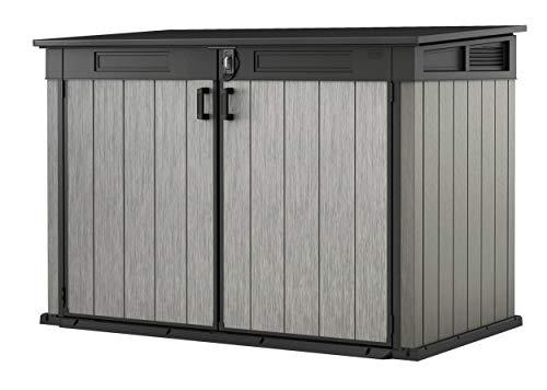 Koll Living Garden Mülltonnenboxen von 848- bis 2020 Liter wählbar - aus Wetter- & UV-festem Kunststoff - mit Gasdruckfedern und Belüftungsystem (Typ 8-2020 Liter - grau)