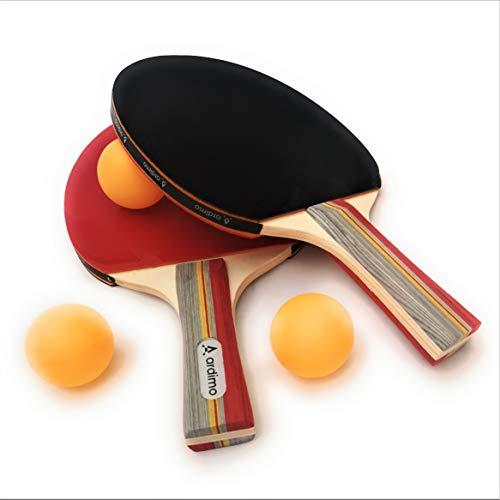Ping Pong Paddle Set with Racket Case Senston Table Tennis Bats 2 Player Set