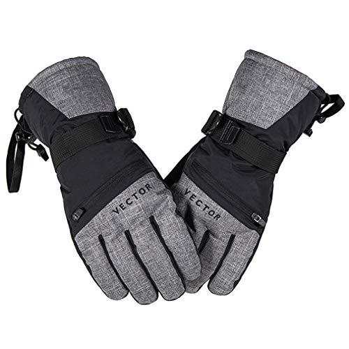 Skihandschoenen voor dames en heren, 3M Thermische Thisolate Handschoenen voor Wintersport, Koud Weer Handschoenen, Warme Handen voor Motorskiën Hardlopen Fietsen