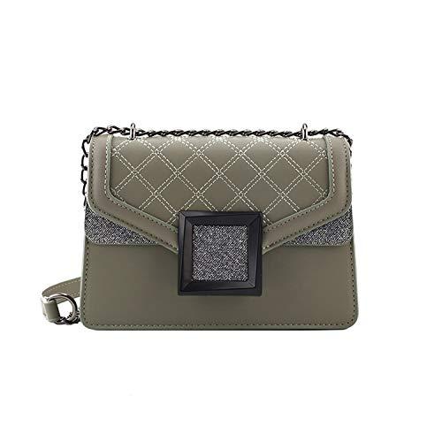 Dark-s borse a spalla le donne ad alto Designer grata di diamante Borse Borse di femminile catena di diamanti casuale Borse Crossbody, verdi