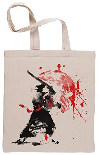Japonés Samurai Bolsa De Compras Shopping Bag Beige