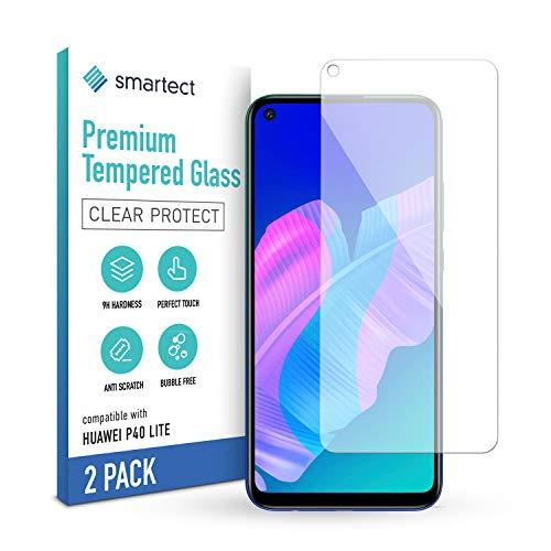 smartect Schutzglas kompatibel mit Huawei P40 Lite [2 Stück] - Tempered Glass mit 9H Härte - Blasenfreie Schutzfolie - Anti-Kratzer Displayschutzfolie