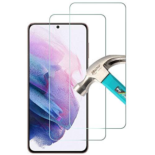 TQmate 2Pack, Protector de Pantalla Compatible con Samsung Galaxy S21 Plus 5G, Cristal Templado para Galaxy S21 Plus 5G, Dureza 9H, Anti Rayado, fácil de Instalar