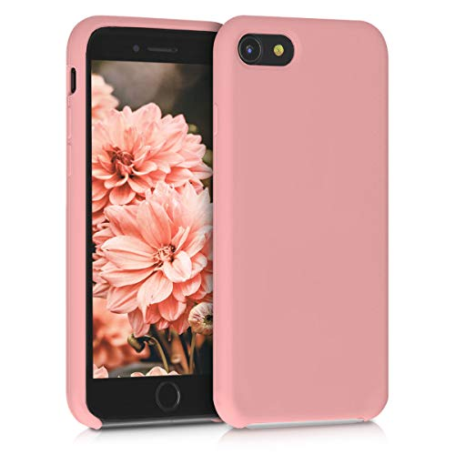 kwmobile Hülle kompatibel mit Apple iPhone 7/8 / SE (2020) - Handyhülle gummiert - Handy Hülle in Rose Tan