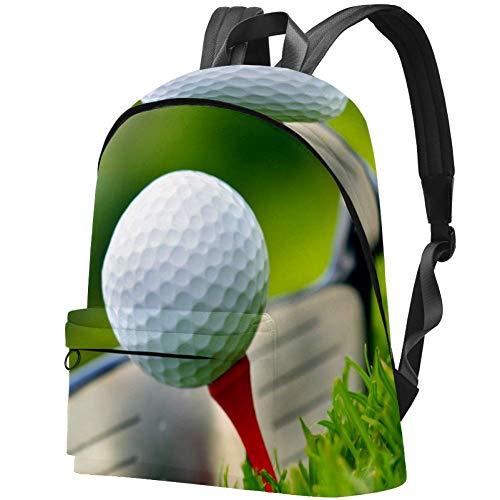 Golfschläger und Ball Bag Teens Student Bookbag Leichte Umhängetaschen Reiserucksack Tägliche Rucksäcke