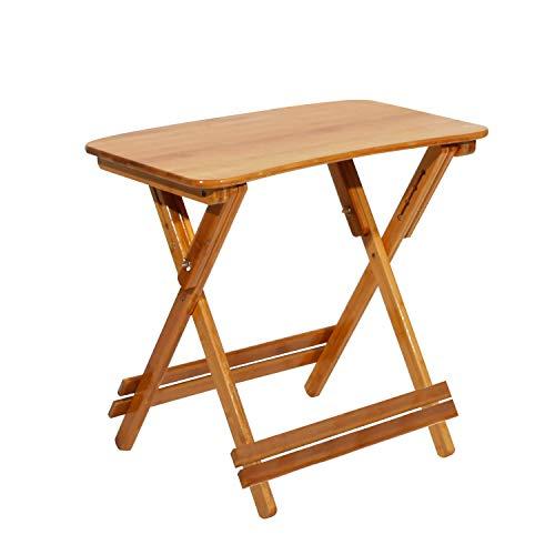 soges Beistelltisch Klapptisch Balkontisch Holztisch Gartentisch Klapptisch aus Bambus Studiertisch, Schreibtisch, höhenverstellbarer und klappbarer Tisch,S1-HSJ-011-A