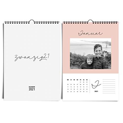 Edler A4 Wandkalender für 2021 von heaven+paper Fotokalender in sanften Farben, im modernen & eleganten Design Idealer Jahreskalender zum selbst gestalten, basteln & verschenken