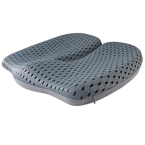 WDFDZSW Non-Slip Memory Foam Seat Cushion for Back Pain Coccyx Orthopedic Car Office Chair Wheelchair Support Cushion (Color Name : Light Grey)