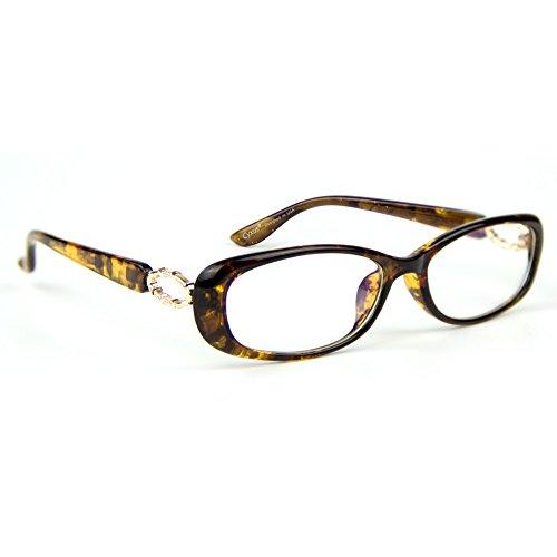 Cyxus Blue Light Filter Computer Glasses Non-prescription Eyeglasses Clear Lens Eyewear (Leopard Print)