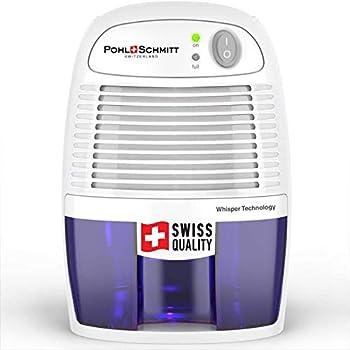 Pohl Schmitt Electric Dehumidifiers for Home 2200 Cubic Feet  225 sq ft  Portable Compact 17 oz Capacity Mini Quiet Dehumidifier for Bedroom Bathroom RV Laundry Room or Closet