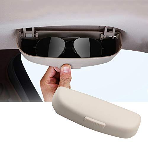 SKTU Auto Sonnenbrillenhalter für GLA X156/ GLC X253/ A Klasse/B Klasse/C Klasse Brillenetui Glasses Case Holder Auto Innenraum (Beige)