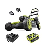 Sun Joe ION100V-21LM 21-Inch Cordless Self Propelled Lawn Mower, Kit (w/ 5.0-Ah Battery + Rapid Charger)