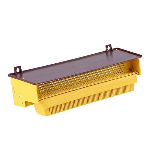 jieGorge Beekeeping Accessory RäUmungsverkauf!!!Bienenzucht Kunststoff Pollenfalle Gelb mit Abnehmbarer belüfteter Pollenschale