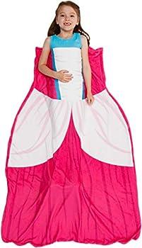 Silver Lilly Princess Dress Blanket - Girl s Dress Up Costume Fleece Sleeping Bag Blanket  Pink
