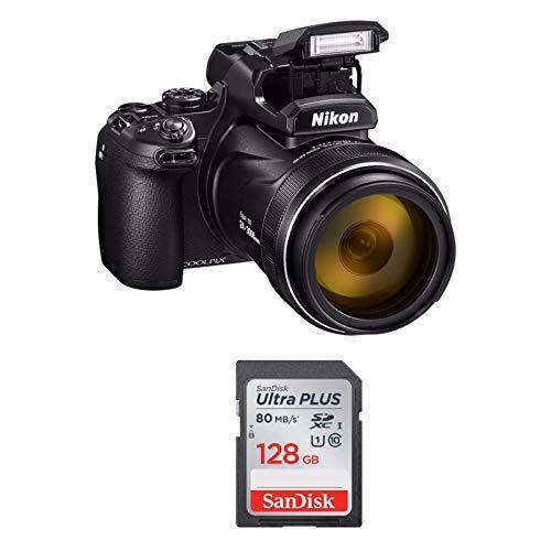 Nikon COOLPIX P950 Cámara compacta digital 4K y tarjeta SD de 128GB