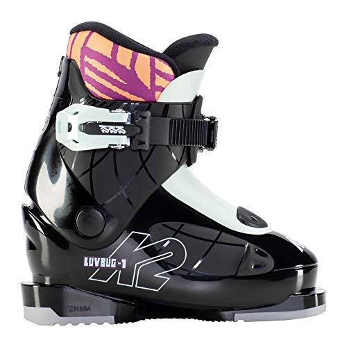 K2 Skis Mädchen Luvbug - 1 Skischuhe, Black-Mint, Mondo: 16.5 (EU: 27.5 / UK: 8.5 / US: 9.5)