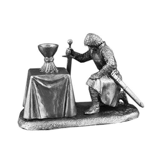 Ronin Miniatures - Knight with Holy Grail - Tin Metal Collection Military Soldier Toy - Size 1/32 Scale - 54mm Action Figures - Home Collectible Figurines