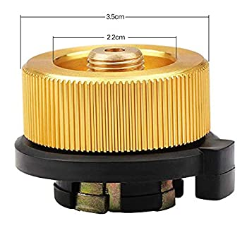 HPiano 3 PIÈCES Adaptateur de Bouteille de Gaz Buse de Transfert Connecteur pour Brûleur de poêle Réchaud de Camping, Conversion de tête de Cartouche de gaz Type de Bouteille de buse