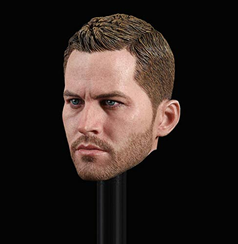 tytlmask Head Sculpt 1/6 Scale,Paul Walker Brian O'Conner Head Carved Model for 12Inch Action Figure DIY