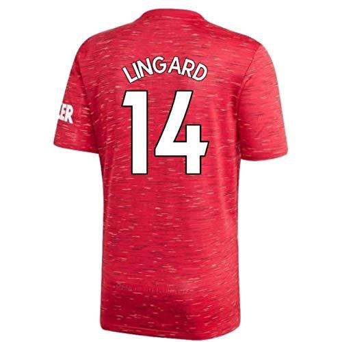 ZYQ Jesse Lingard 2020-2021 Home Männer Fussball Jersey, Erwachsene und Kindergröße (Color : A, Size : Adult-M)