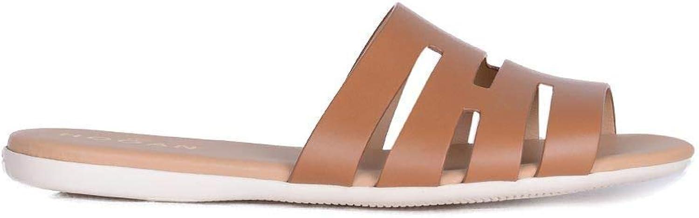 Hogan Women's HXW1330BI90DOWC801 Brown Leather Sandals