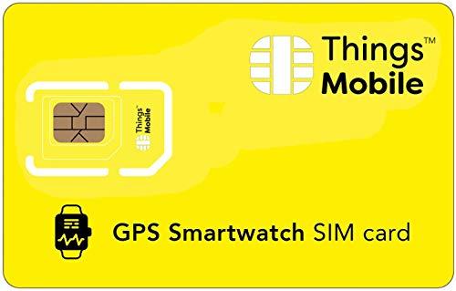 SIM Card per GPS TRACKER SMARTWATCH - Things Mobile - con copertura globale e rete multi-operatore GSM 2G 3G 4G LTE, senza costi fissi, senza scadenza e tariffe competitive, senza credito incluso