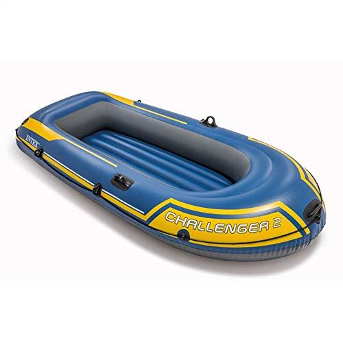 Huangxiaofang Gommone Explorer Doppio peschereccio Assault Boat Dinghy Drift Boat Blue 2 Person Gommone Ispessito (Colore : Blu, Dimensione : 236×114×41CM)