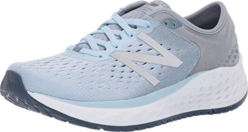 New Balance Women's Fresh Foam 1080 V9 Running Shoe, Air/Vintage Indigo, 5 W US