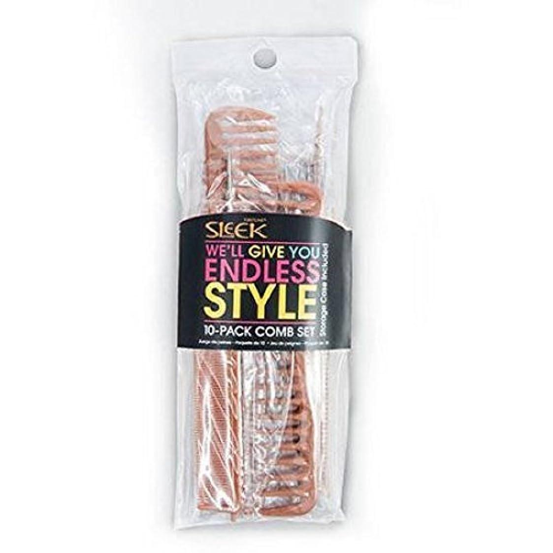 上院議員統計的ハイランドSleek Bone Comb Set, 10 count [並行輸入品]