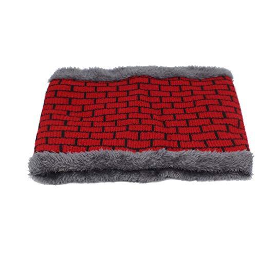 Moda hombre bufanda de invierno anillo bufandas de punto para hombres mujeres cuello de lana engrosada redecilla cuello de urdimbre cálido suave bufandas25cmx21cm