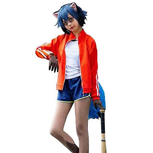 SUTUO Kagemori Michiru Cosplay, Anime BNA Full Set Costume Daily Sports Jacket (M)