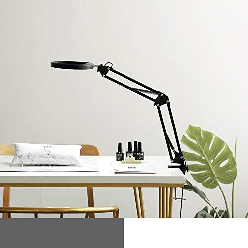 Lámpara lámpara de mesa de trabajo clip protección para los ojos plegable portátil belleza luz fría súper brillante sin sombras-negro plegable -16CM_ interruptor de atenuación