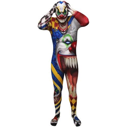Morphsuit Clown Monster Costume - size Xlarge - 5'10-6'1 (176cm-185cm)