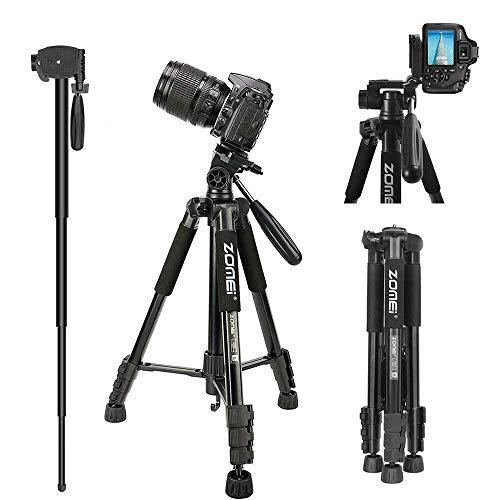 ZOMEI Q222 Camera Statief Statief Statief Statief Flexibele Fotografische Statief Monopod Reisstandaard voor Smartphone Camera DSLR Projector