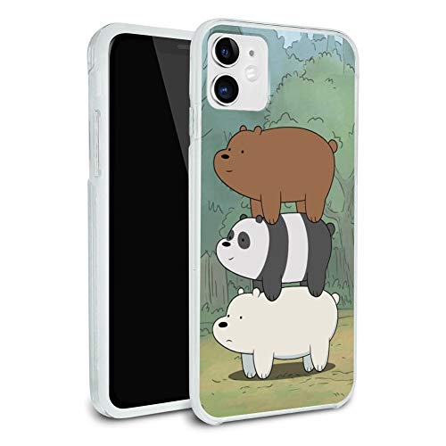 We Bare Bears Bear Stack Protective Slim Fit Hybrid Rubber Bumper Case Fits Apple iPhone 8, 8 Plus, X, 11, 11 Pro,11 Pro Max