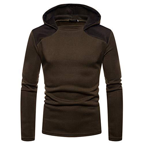 Einfarbig Winter Frühling Herren Herbst Langarm Hoodies Hooded Sweatshirt Top...