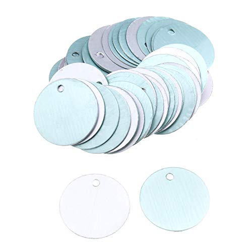 YINETTECH 50 Stks Metaal Stempelen Blanks Ronde Aluminium Tags 25 mm Diameter voor DIY Sieraden Maken