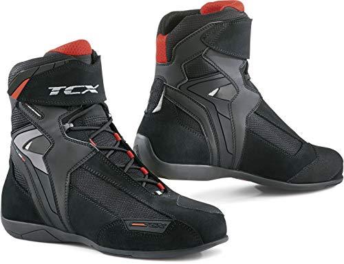 STIVALI MOTO TCX 7660 ST-FIGHTER //// WATERPROOF 41 EUR - 8 US, WHITE//BLACK