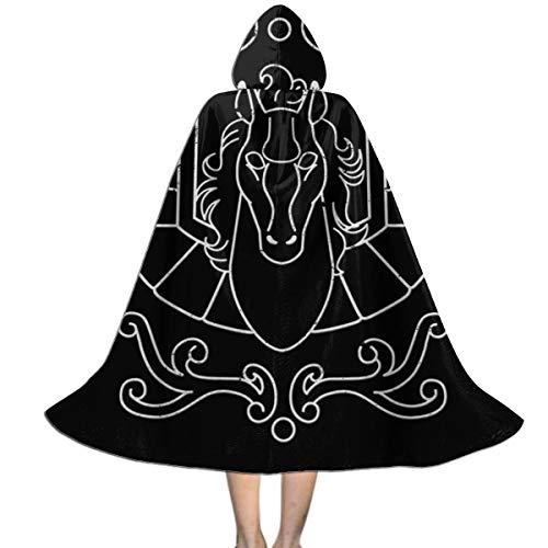 OJIPASD Pegasus - Capa con Capucha para niños, Unisex, diseño de San Seiya Caballeros del Zodiaco