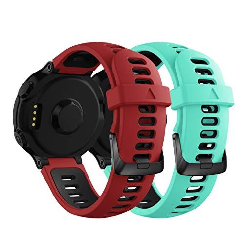 Syxinn Compatible con Correa Forerunner 735XT Banda de Reemplazo Silicona Suave Sports Pulsera para Forerunner 735XT/235/220/230/620/630