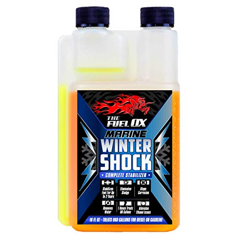 Fuel Ox Marine Winter Shock - Complete Fuel Treatment & Stabilizer - Fuel Additive for Gas or Diesel - Stabilizes Fuel - Treats Fuel for Boats or Jet Skis - 16oz Treats 960 Gallons
