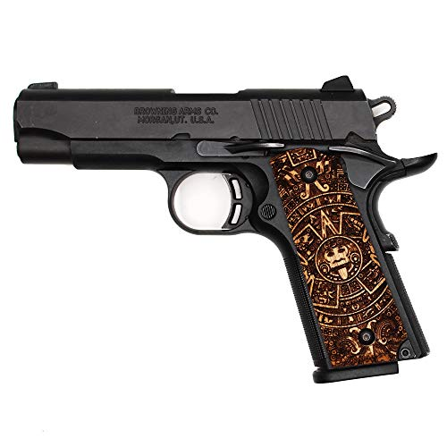 DURAGRIPS - Exotic Wood Grips for Browning 1911-22 1911-380 .22 .380 - Aztec Calendar