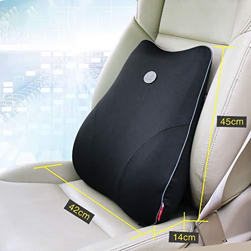 Battitachil lendenkussen lendenwervelkussen kussen kalmeren je rug perfect voor auto of bureaustoel voor auto, thuis en kantoor