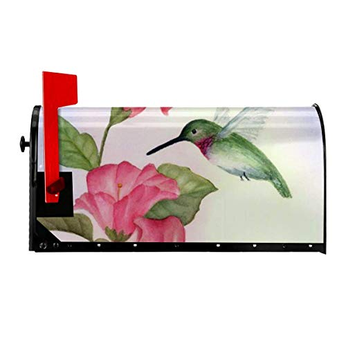 Odeletqweenry Novelty Hummingbird Psd Print Mailbox Cover Magnetic Mailbox Wraps Post Letter Box Cover Standard Size 21 x 18 Inches Waterproof Canvas Mailbox Cover