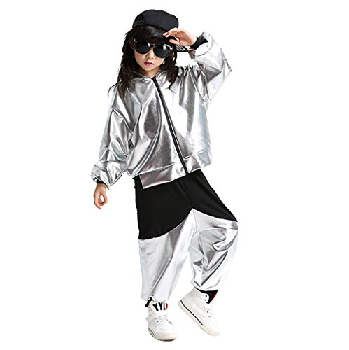 LOLANTA Kids Dance Costumes Hip-hop Jazz Performance Halloween Paint Hooded Outfits