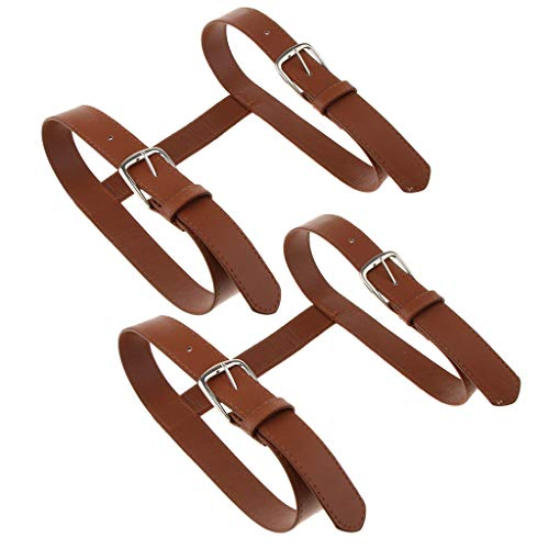 Toygogo - Juego de 2 fundas de piel sintética con hebilla en forma de H, para esterilla de yoga, picnic