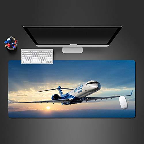 Mouse Pad 900X400*3Mm muismat Het vliegtuig nam af bij zonsondergang decoratieve Gaming Mousepad Grote Kwaliteit Muis Pad Gaming Pads