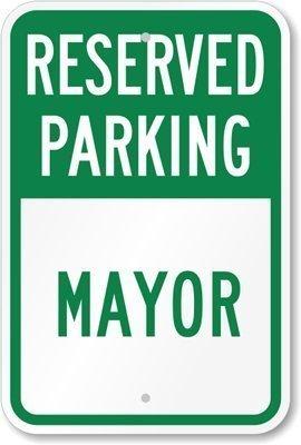 Destiny'S Reserved Parking – Mayor Schild aus Aluminium 20,3 x 30,5 cm