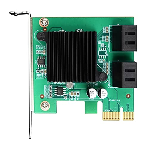 Abcidubxc Tarjeta de expansión PCIE a SATA 3.0 de 4 puertos SATA3.0, tarjeta adaptadora SATA de expansión Pcie a SATA3.0, 4 puertos